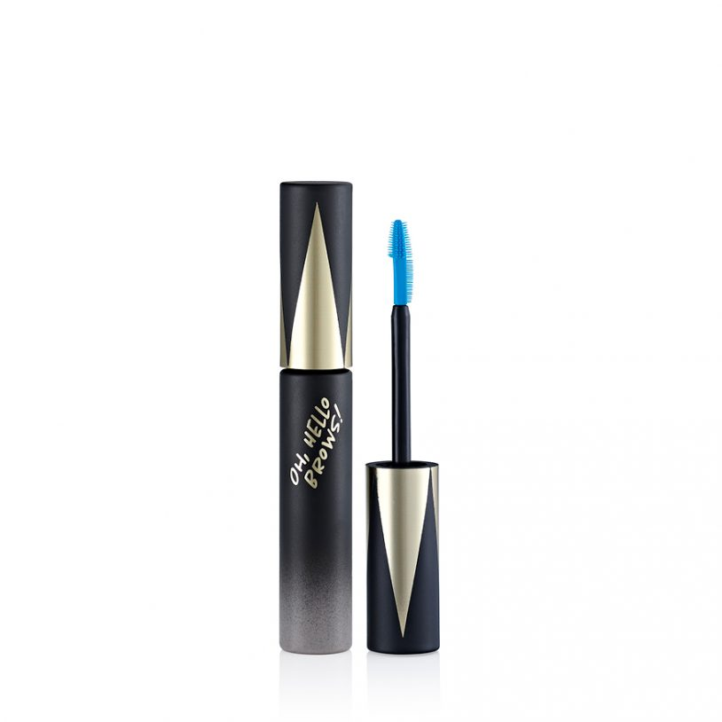 mascara makeup packaging with plastic applicator for brows