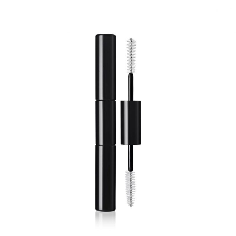 double-ended cosmetics packaging with innovative fibre mascara brush applicator