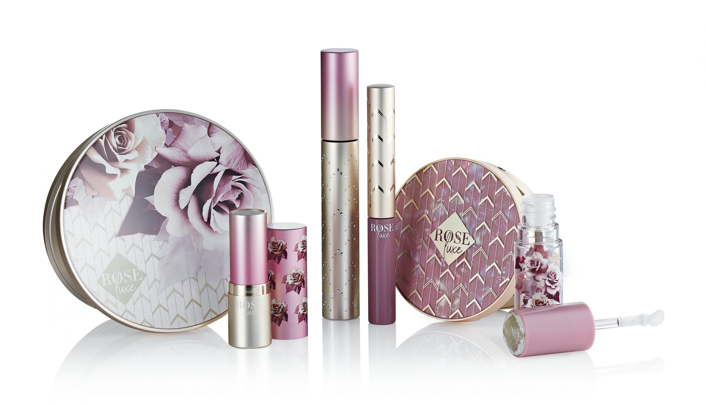 rose luxe beauty packaging by hcp