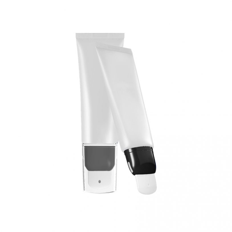 refillable hygienic skincare tube with roller applicator